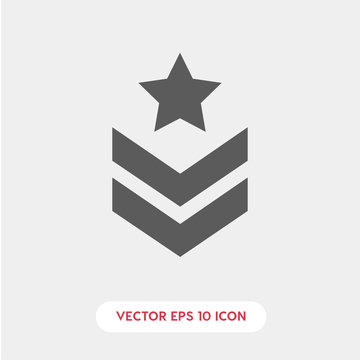 Military star icon. military star icon vector. Linear style sign for mobile concept and web design. military star protein symbol illustration. vector graphics - Vector