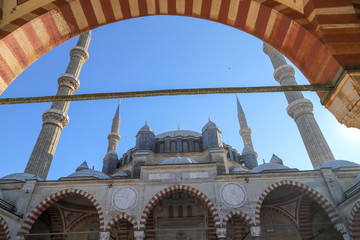 Blue sky and Selimiye Mosque Edirne