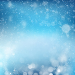 Blue abstract Christmass winter background design new year celebration template with snowflakes. EPS 10