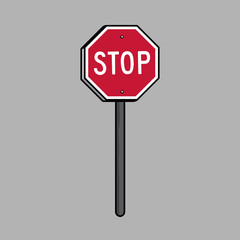 STOP sign comics illustration