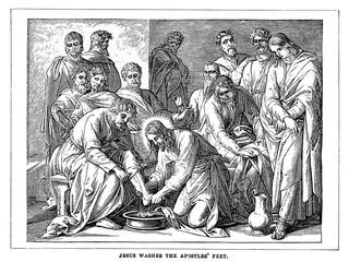 Jesus washes the apostles feet