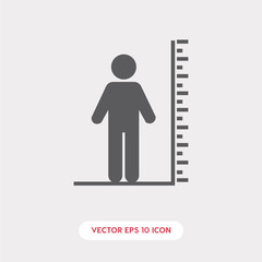 tall icon vector symbol