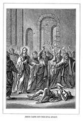 Jesus casts out the evil spirit