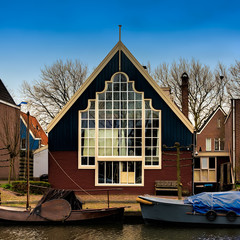 Traditional dutch house in Edam village. Edam is a small village in the district Nordholland, Netherlands.