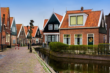 Traditional Volendam houses