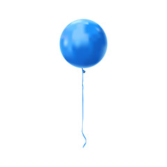 Blue vector balloon icon isolated on white background