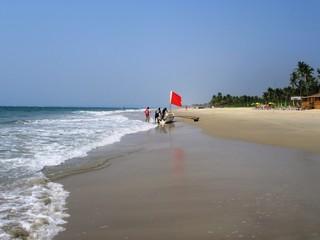 Die Küste und die Strände von Goa in Südindien