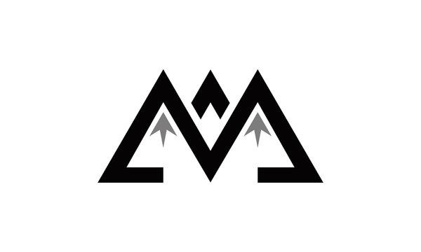 M logo mountain