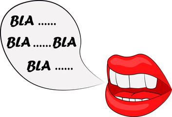 vector illustration mouth bla bla