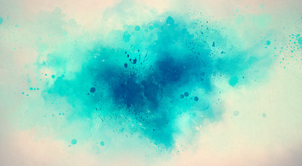 Abstract watercolor drawing on a paper image