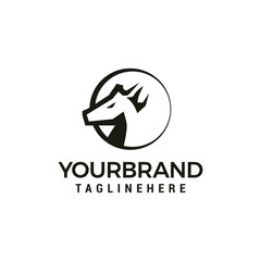 Head Horse logo design template elements