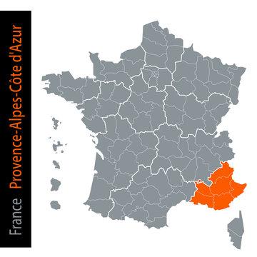 Les régions de France / Provence-Alpes-Côte d'Azur