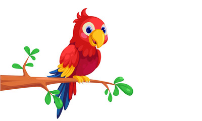 Macaw cartoon Wall mural