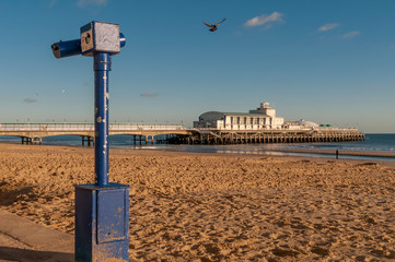 Beautiful view of Bournemouth pier on a quiet sunny day, England, United Kingdom