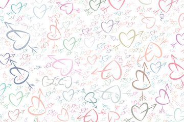 Abstract love for valentine day, celebrations or anniversary illustrations background. Bunch, art, congratulation & backdrop.