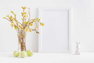 Home interior with easter decor