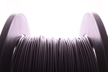 Fototapeta Spool of plastic filament for 3D printer, ABS, PLA obraz
