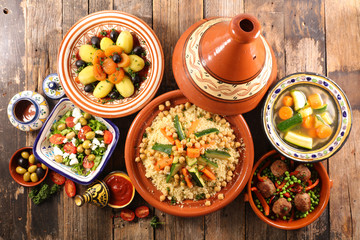 Fototapete - arabic food assortment