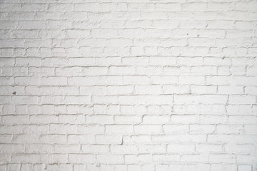 texture stained old stucco light gray and aged paint white brick wall background in rural room