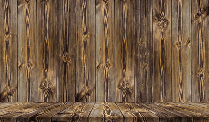 Fotoväggar - Old wood texture