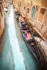 Fotobehang Kanaal Venise et ses gondoles