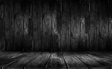Fotoväggar - Black wood background
