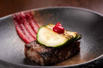 Fine dining Venison Steak with vegetable