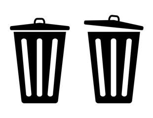 trash vector icons