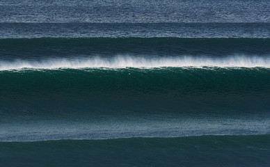 lines of big waves