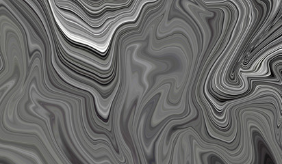 Background black and white with illustration of marble. Beautiful background for a wallpaper template, pattern with lines and waves for different purposes.