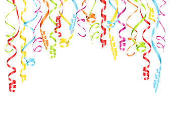 Color Streamers Background