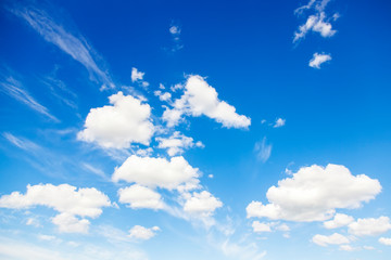 Blue sky natural background
