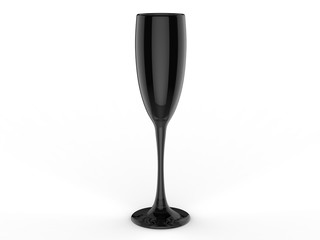 Blank Glass Tumbler for branding. 3d render illustration.