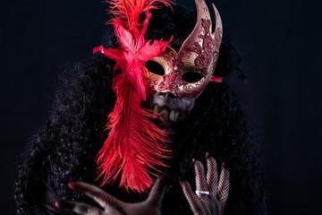 maskerade, venizianische maske und tod