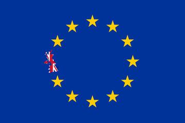 BREXIT - Britain in the EU flag concept - Illustration