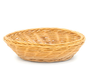 Basket isolated on white background with clipping path,Copy space