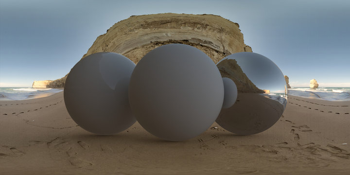 Sandy beach cliff