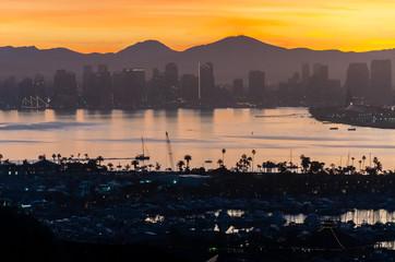 Sunrise in Downtown, San Diego, CA