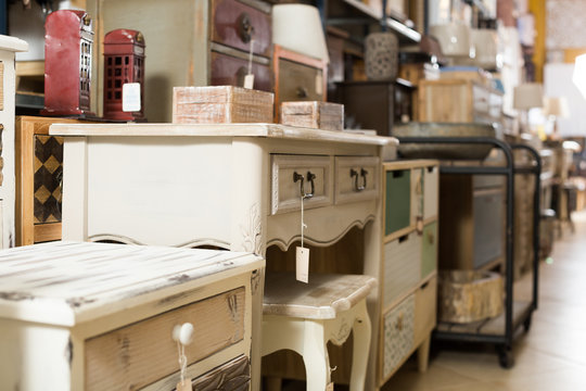 In store of antique furniture