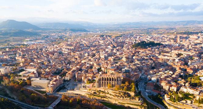 Aerial view of Manresa town