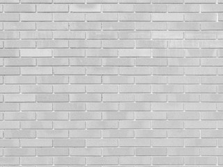 White Brick wall Background of white stone texture with light leak, vintage style