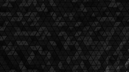 Elegance black triangular abstract background, Glossiness surface. 3d Rendering