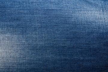 Shabby denim texture for background. Blue jeans