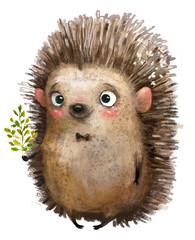 little cartoon hedgehog