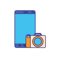 screen smartphoen with camera isolated icon