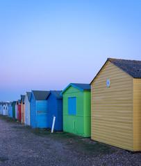 Beach huts in Hastings beach