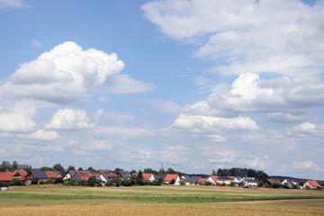 Fototapete - Felder bei Weißenstadt