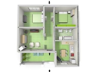 Illustration floor plan