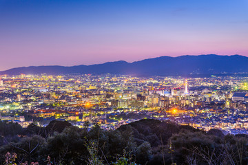 Fototapete - Kyoto, Japan City Skyline