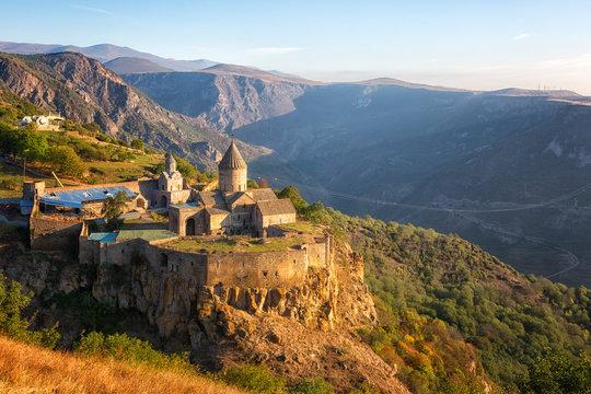 Ancient monastery in autumn. Tatev. Armenia
